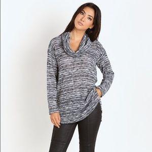 •Splendid•Upstate Cowl Neck Sweater in Blue•